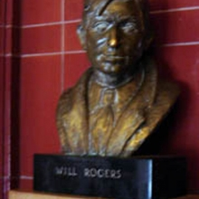 WILL ROGERS BRONZE BUST